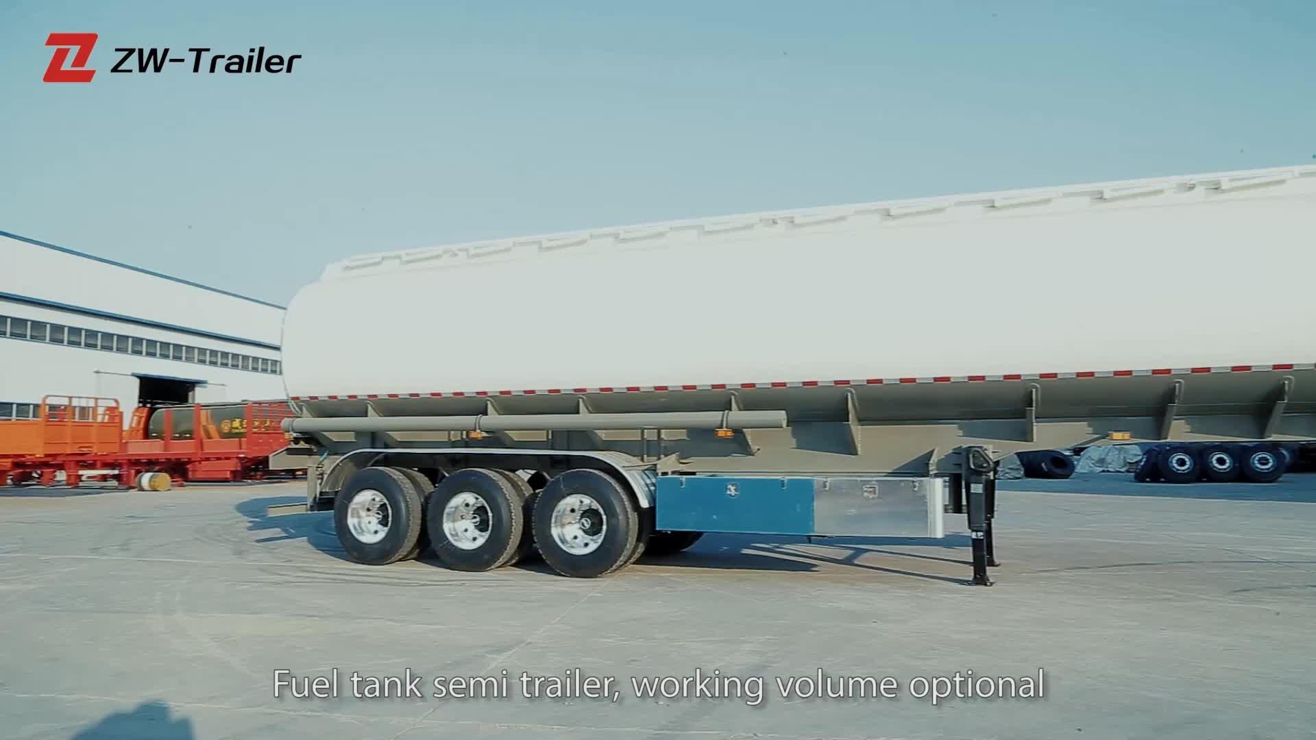 50000 litres 3 essieux 22MT aluminium réservoir de carburant semi pétrolier remorque