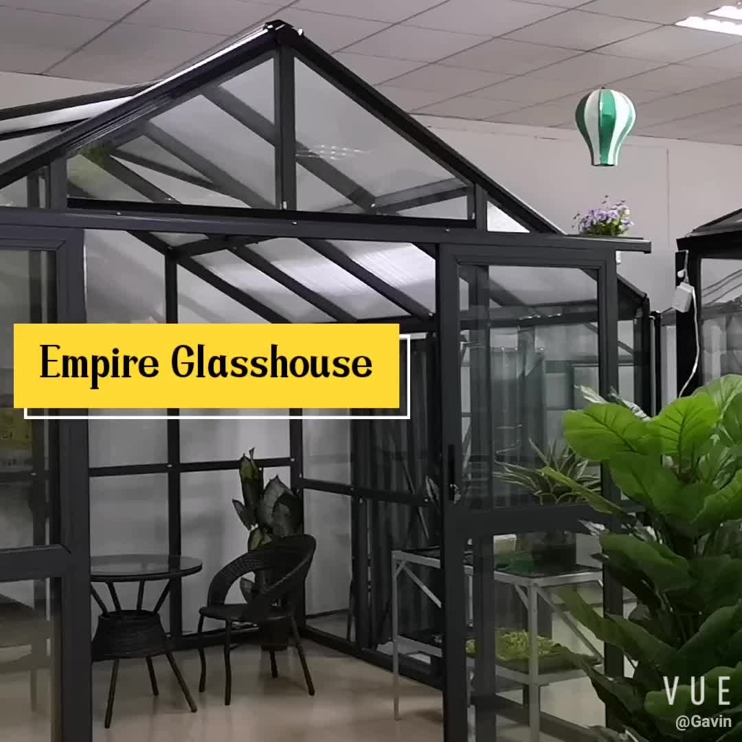 Four season Elegant prefabricated glass conservatory sunroom
