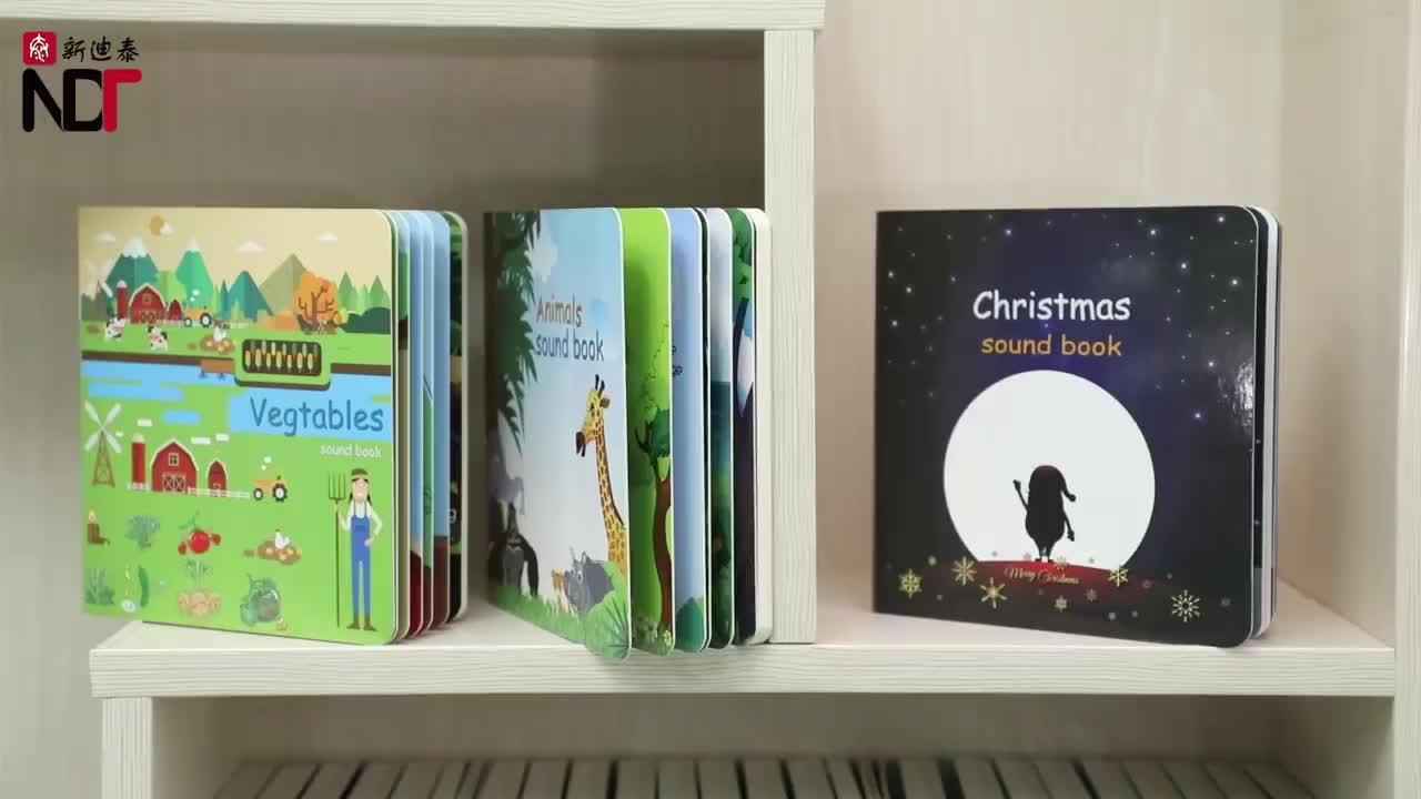 OEM เด็กก่อนวัยเรียนการเรียนรู้ภาษาอังกฤษ Musical Sound Board หนังสือสำหรับเด็กวัยหัดเดิน