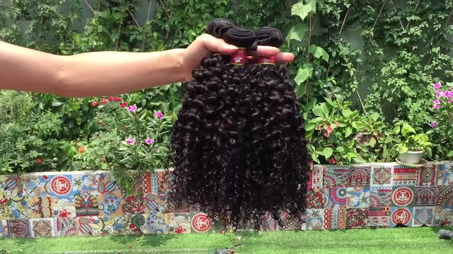 Naturale 36 pollice bionda riccia dei capelli umani di estensione, bagnato ed ondulato brasiliano dei capelli fascio bionda, bionda estensione dei capelli umani