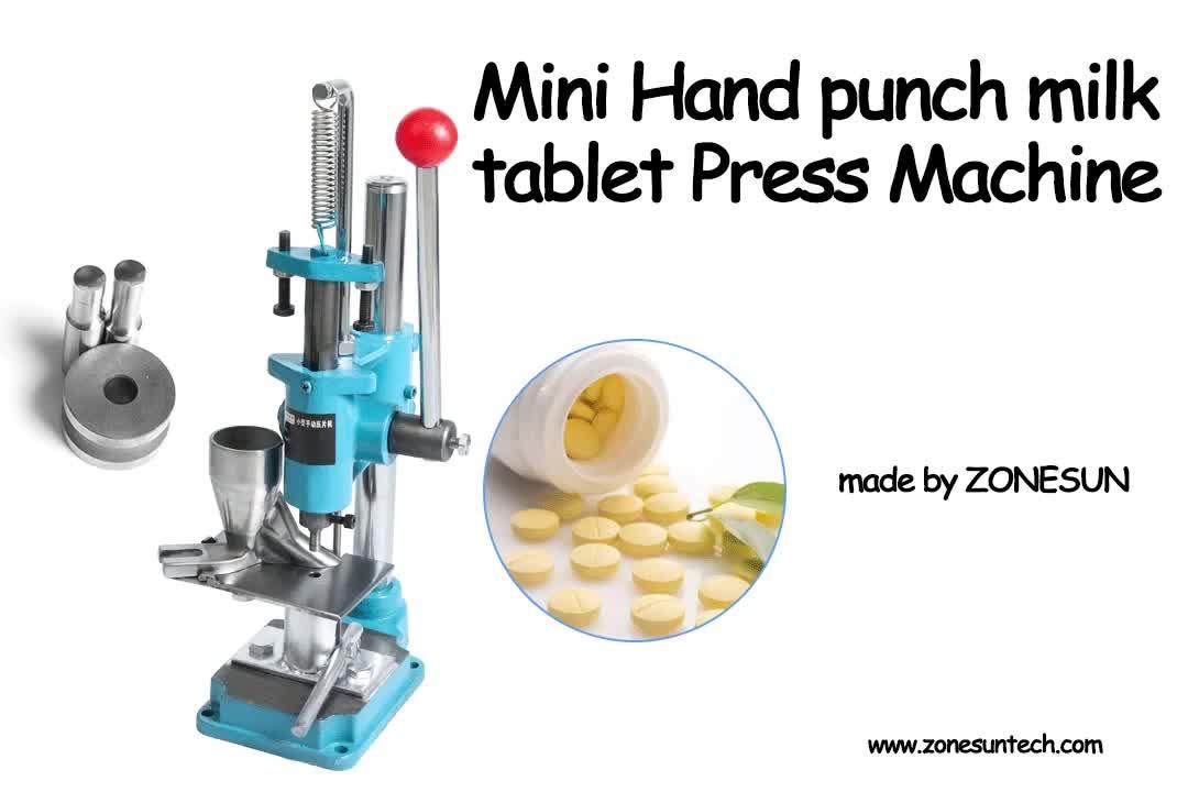 ZONESUN pastilla Mini máquina de prensa de laboratorio profesional Tablet punzonadora Manual medicamentos haciendo dispositivo para la venta caliente