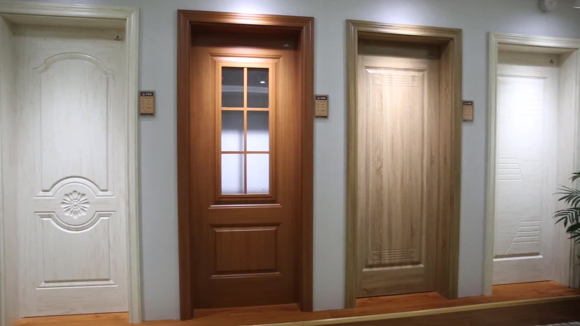 Latest Design Cheapest Interior Bedroom PVC Wood Doors With Frames