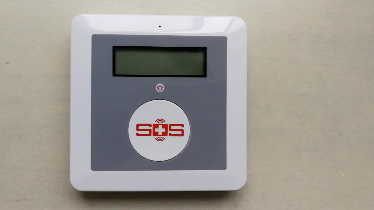 GSM Alarm Security System Wireless Detector Elderly Care Alarm SOS Call Mition Detector SOS Panic Button K4 Package