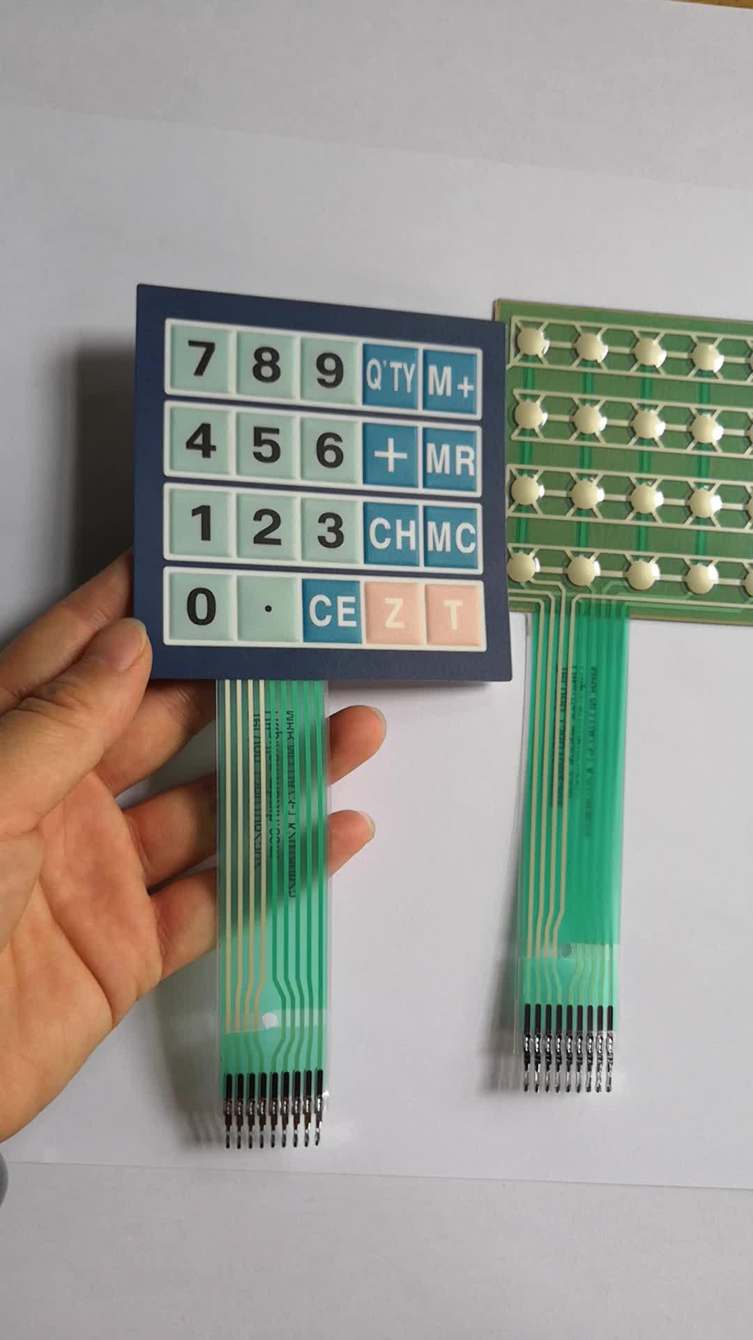 4x5 matrix keyboard 20 keys membrane switch keypad with poly dome
