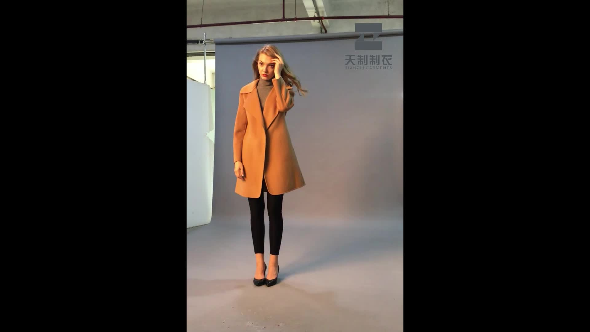 Winter's newest fashion women's  double-sided cashmere coat