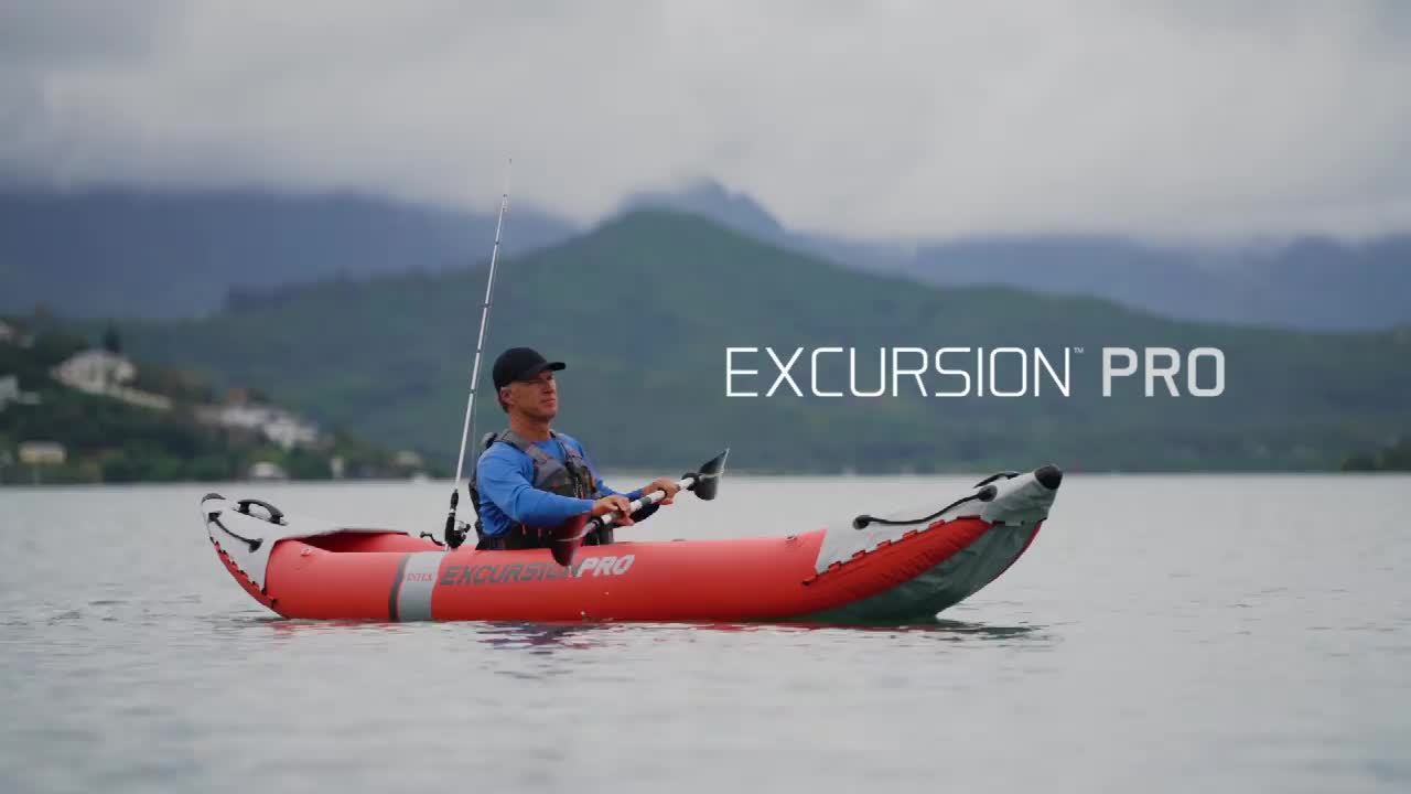 INTEX 68309 EXCURSION PRO 2 Inflatable เรือพายเรือสำหรับตกปลา