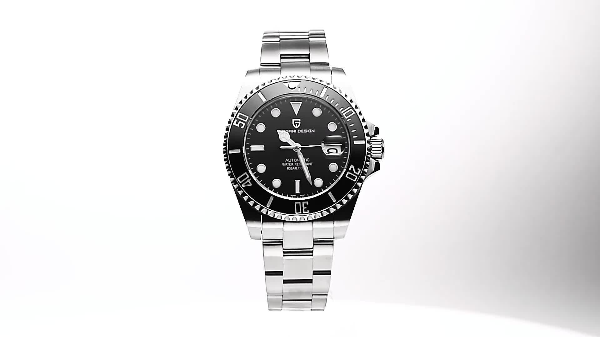 Neue PAGANI Design PD-1639 Wasserdichte NH35A Luxus Sapphire Kristall Glas Marke Mechanische Military Männer Uhren Relogio Masculino
