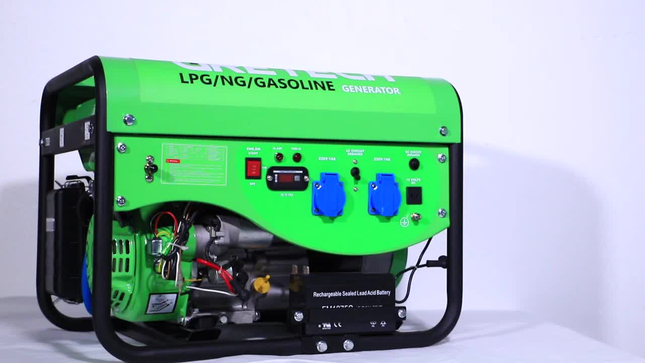 Gretech 5kw hotselling methane gas generator methane steady output 3 phases electric generator