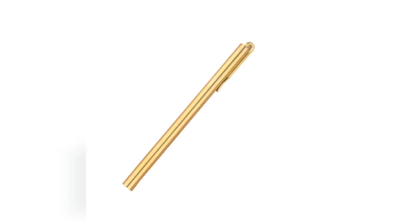 Frosted brass signature pen and brass hand pesn new items good hand feel smooth writing brass pens