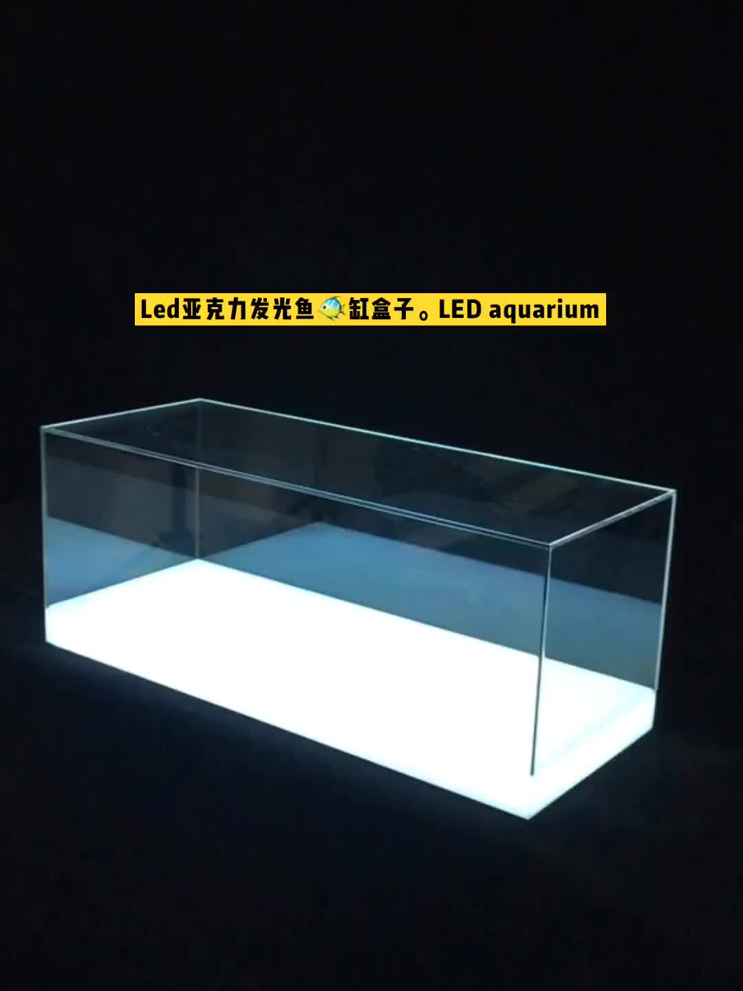 led lighting large cylinder aquarium acrylic box  fish tank