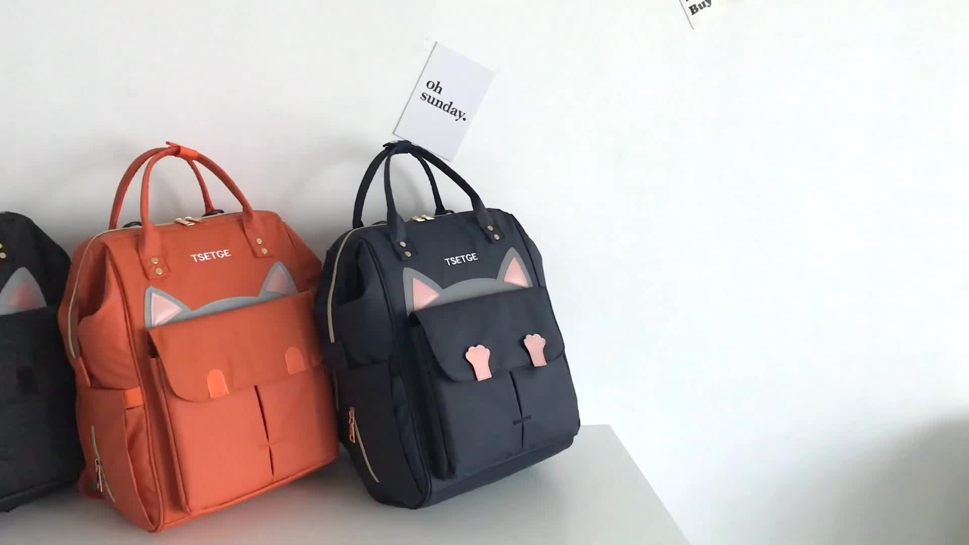 Travel baby nappy bag backpack cartoon diaper bag baby for mother