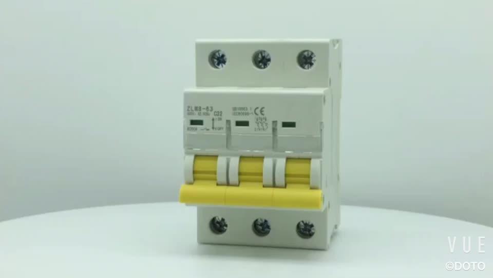 Low sprice 3 Pole 10a 16a 20a 25a 32a 40a 50a 63a Mcb Miniature Circuit Breaker price