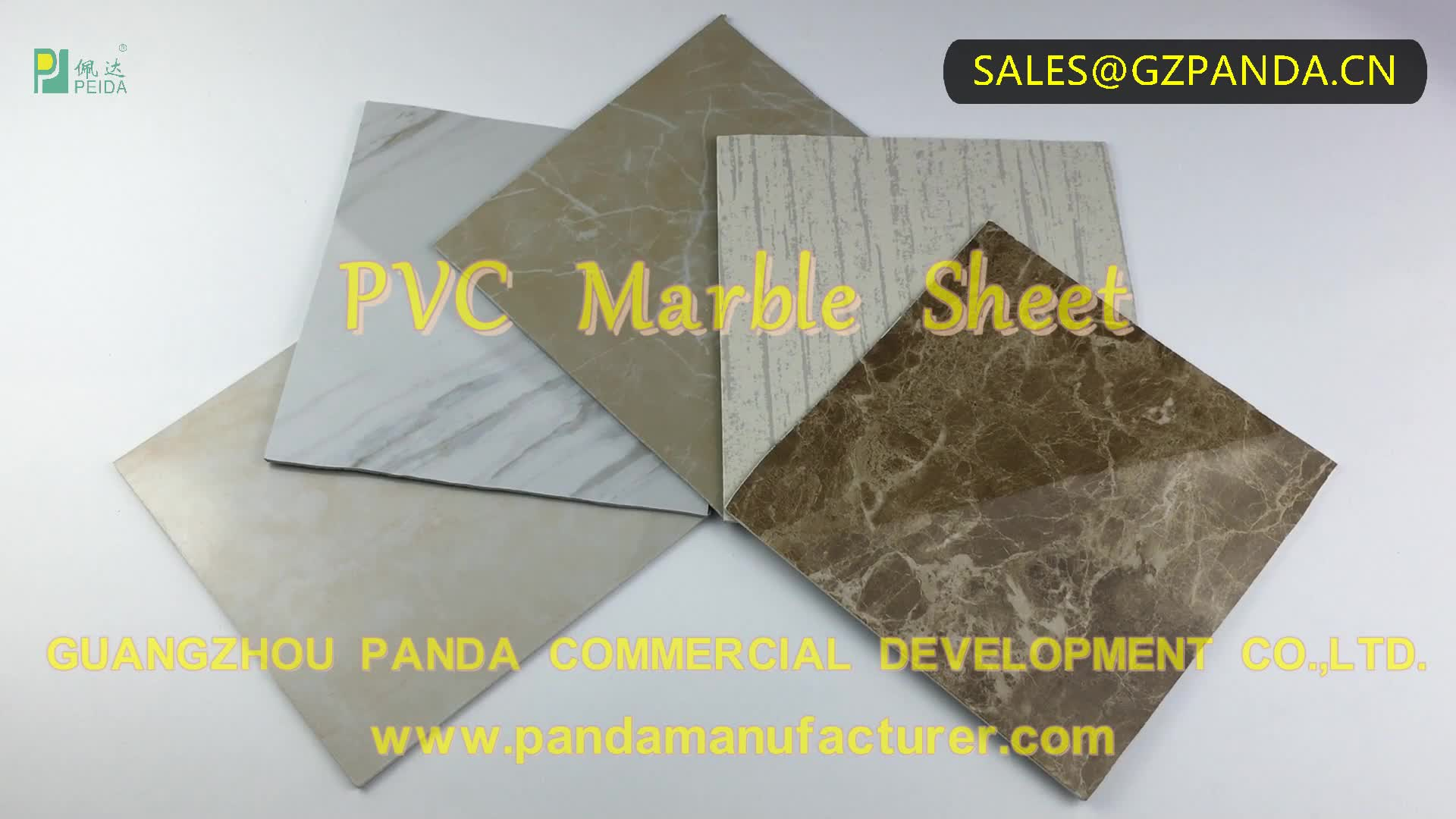 3D Wall Panel PVC UV Coating Marble PVC Sheet By LC Payment