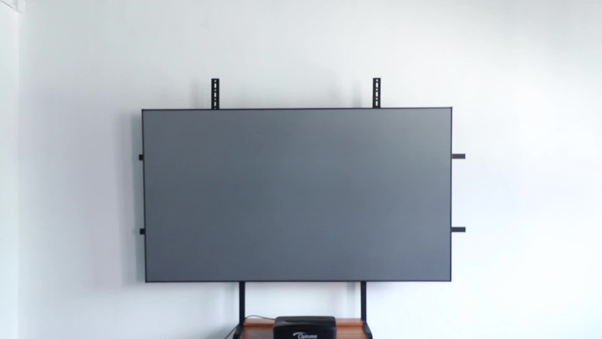 2019 hot sales home theatre narrow ALR fixed frame projection screens