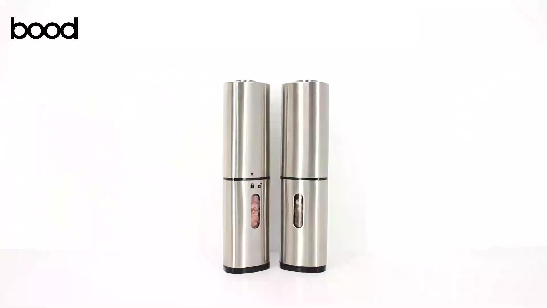 triangular stainless steel electric pepper and slat grinder