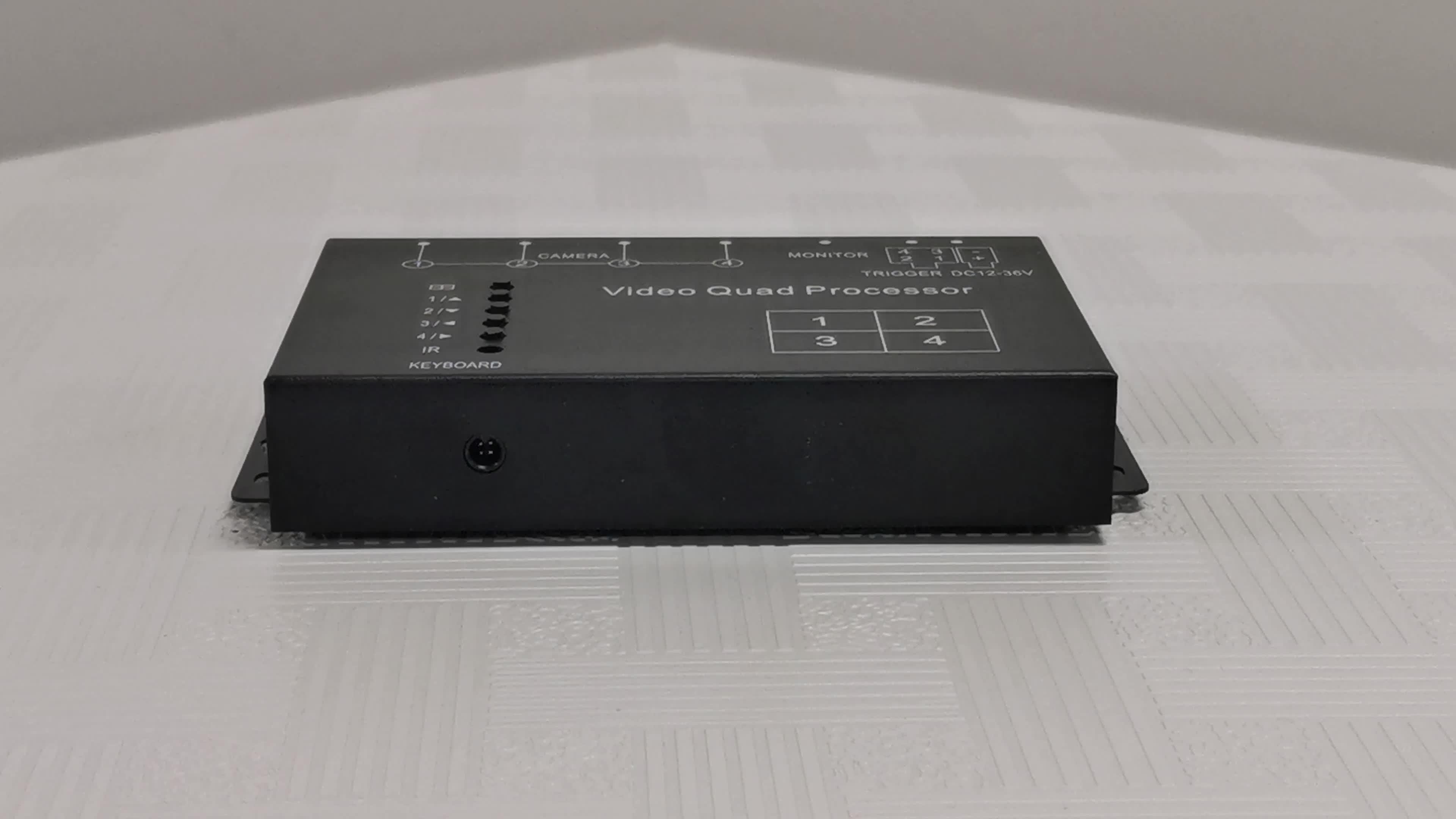 Ad alta Risoluzione in Tempo Reale 4 canali CCTV di colore di auto camion multiplexer video quad processor con IR remote controller
