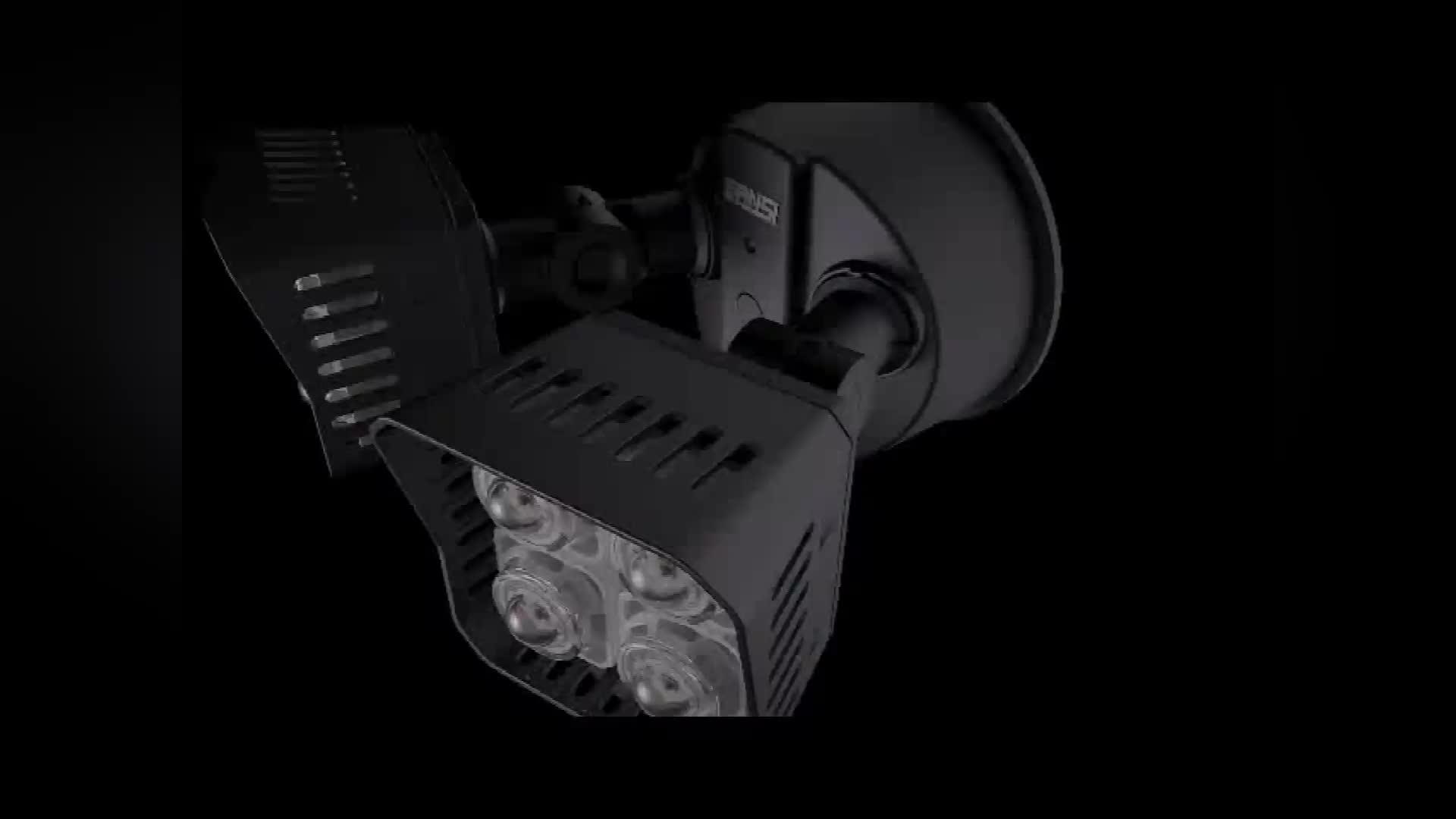 Sansi Projektör Beyaz İki Kafa 18 W 27 W 30 W parlak LED Güvenlik projektör Hareket Aktif Sensörlü