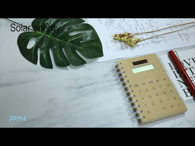 Portable Business Notebook with Solar Power 8 Digits Calculator for Office Using