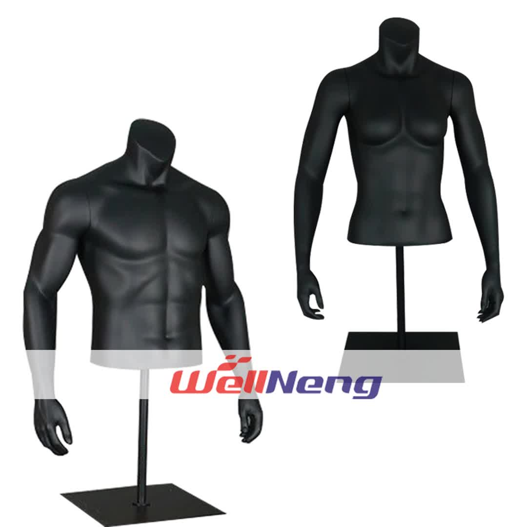 cheap half body size upper man torso fitness muscle male torso display mannequin doll for sportswear