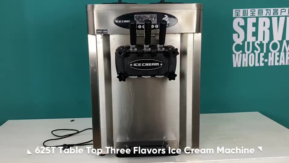 High Quality CE Certification Stainless Steel Table soft Ice Cream Machine