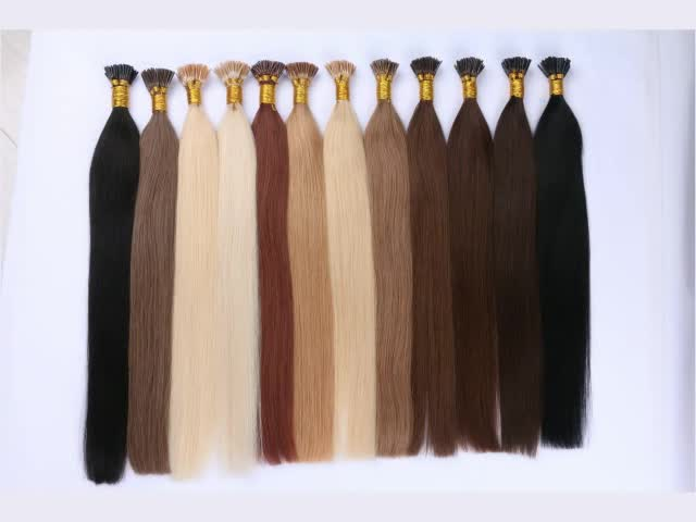 27/613# color hair extension nail tip keratin hair extension human hair