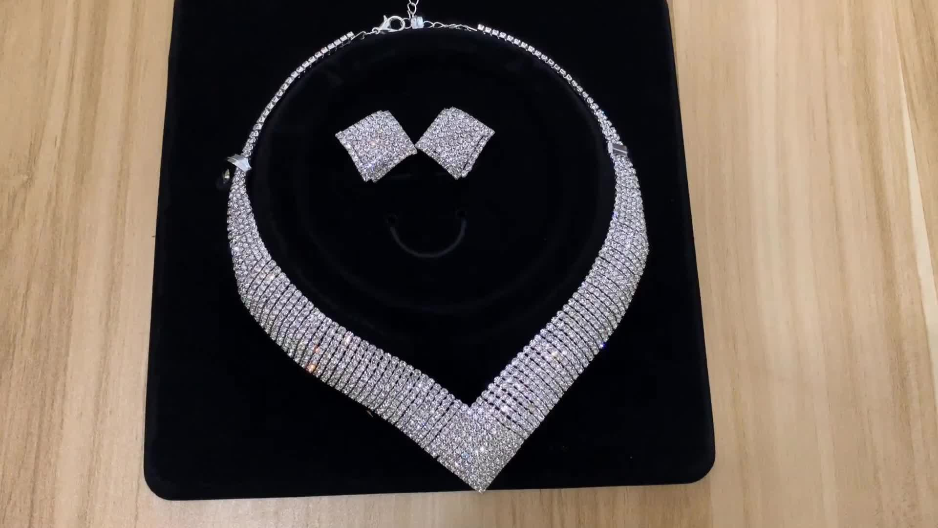 Wholesale african costume crystal wedding bridal jewelry sets