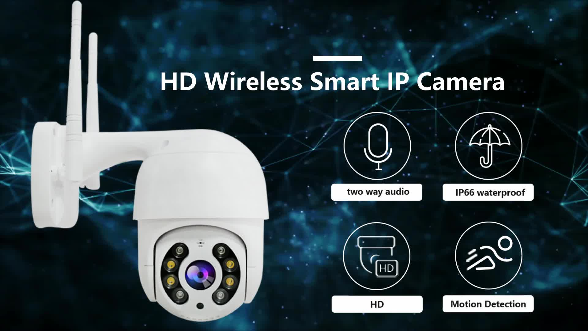 Smartphone control plug and play cctv 1080p wifi wireless small dome ptz ip camera