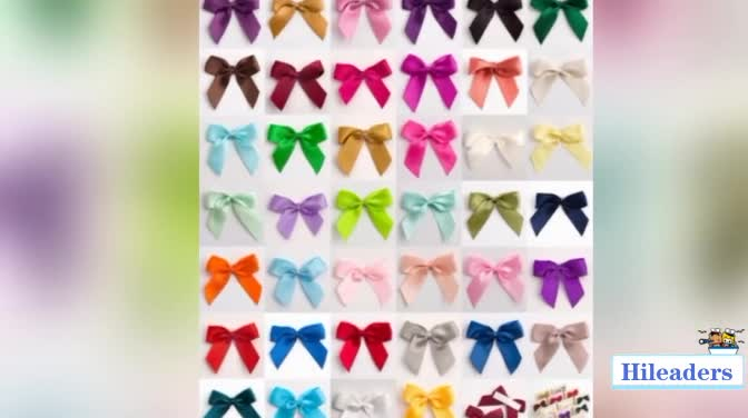 wholesale organza ribbon bow with printing for gift packing