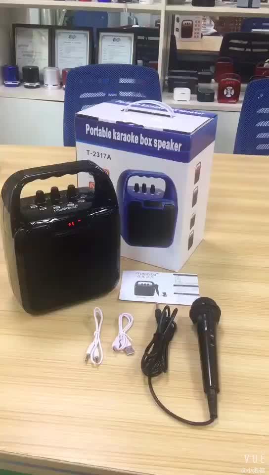 Sistema de Karaoke Com Mini Dj Microfone Mini Speaker Portátil