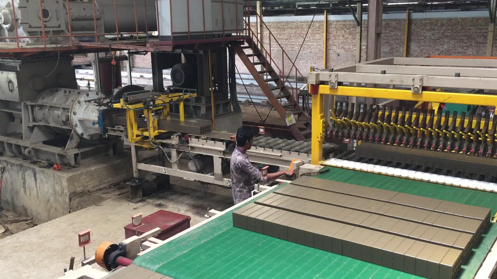 Machinery to make clay brick hollow  blocks BRICTEC VP45 compressed earth soild clay brick making machine