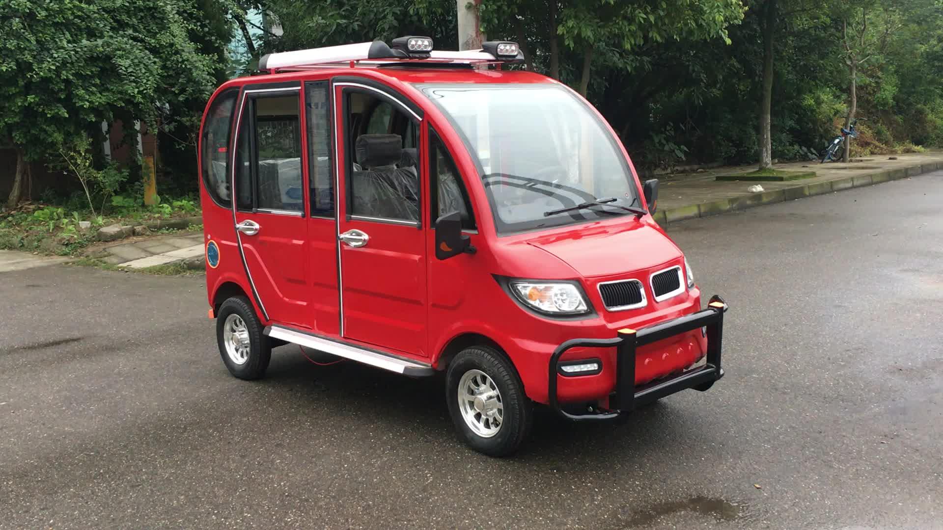 Nuevo mini coche eléctrico MINGHONG solar para adultos, vehículo de cuatro ruedas e rickshaw con 6 asientos de pasajeros