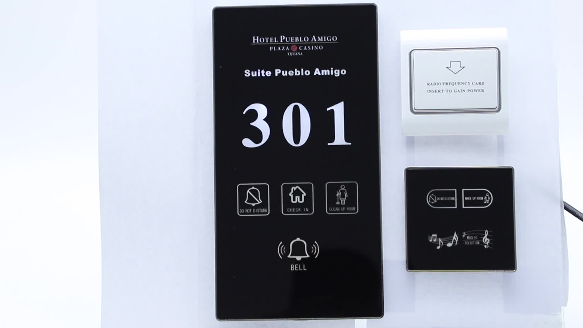 358Mm Customize Hotel Wireless Wifi DND Switch With Room Number Led Display Sign For Hotel