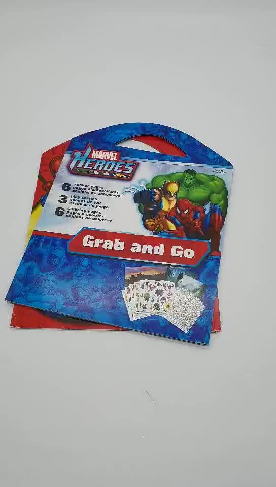 IMEE Marvel Comics седло стежка книга с наклейками и дудлы для детей