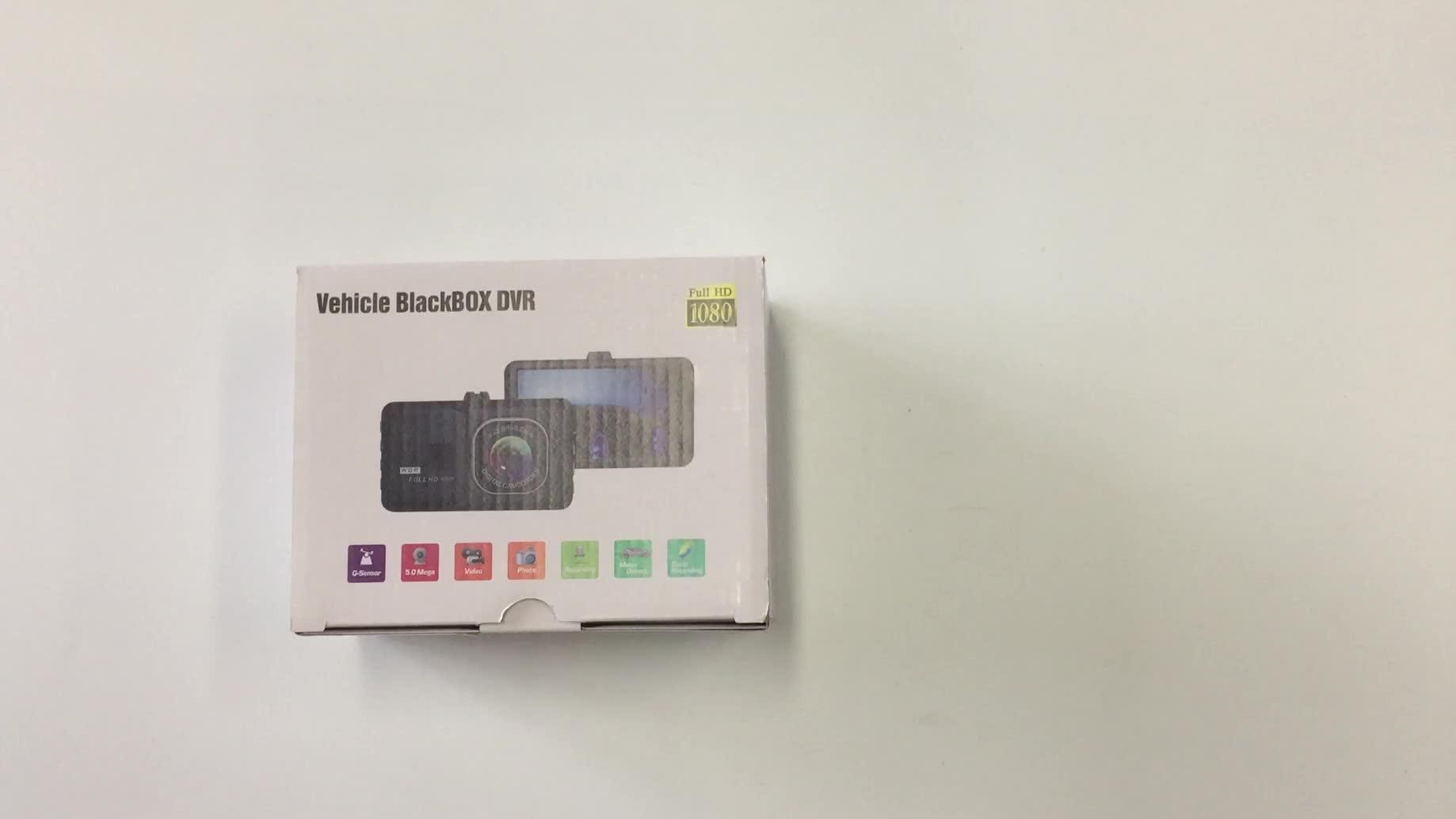 """ต่ำราคากล้อง T206 3.2 """"night vision รถ dvr android 720P ในตัว G-sensor สีดำรถยนต์"""