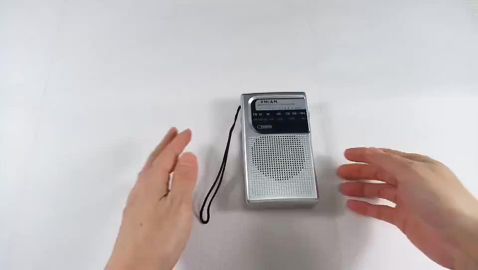 Venda de Hot digital antena de rádio, rádio portátil am fm com fone de ouvido jack