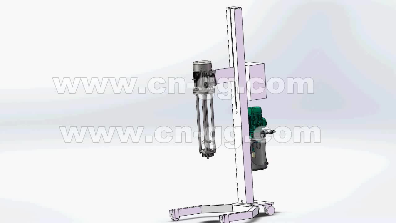 22KW Hydraulic Lift Variable Speed Resin Dispersing Mixer Machine
