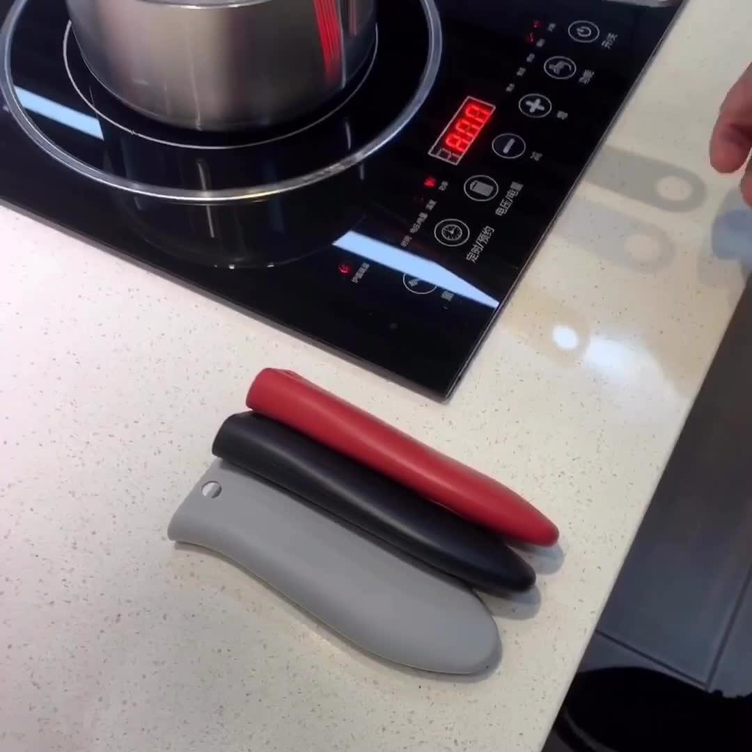 Kitchen Silicone Pot Pan Handle Holder