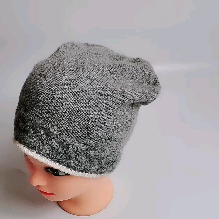 Women ladies cashmere wool slouch beanie hat custom beanie winter knitted hat cap