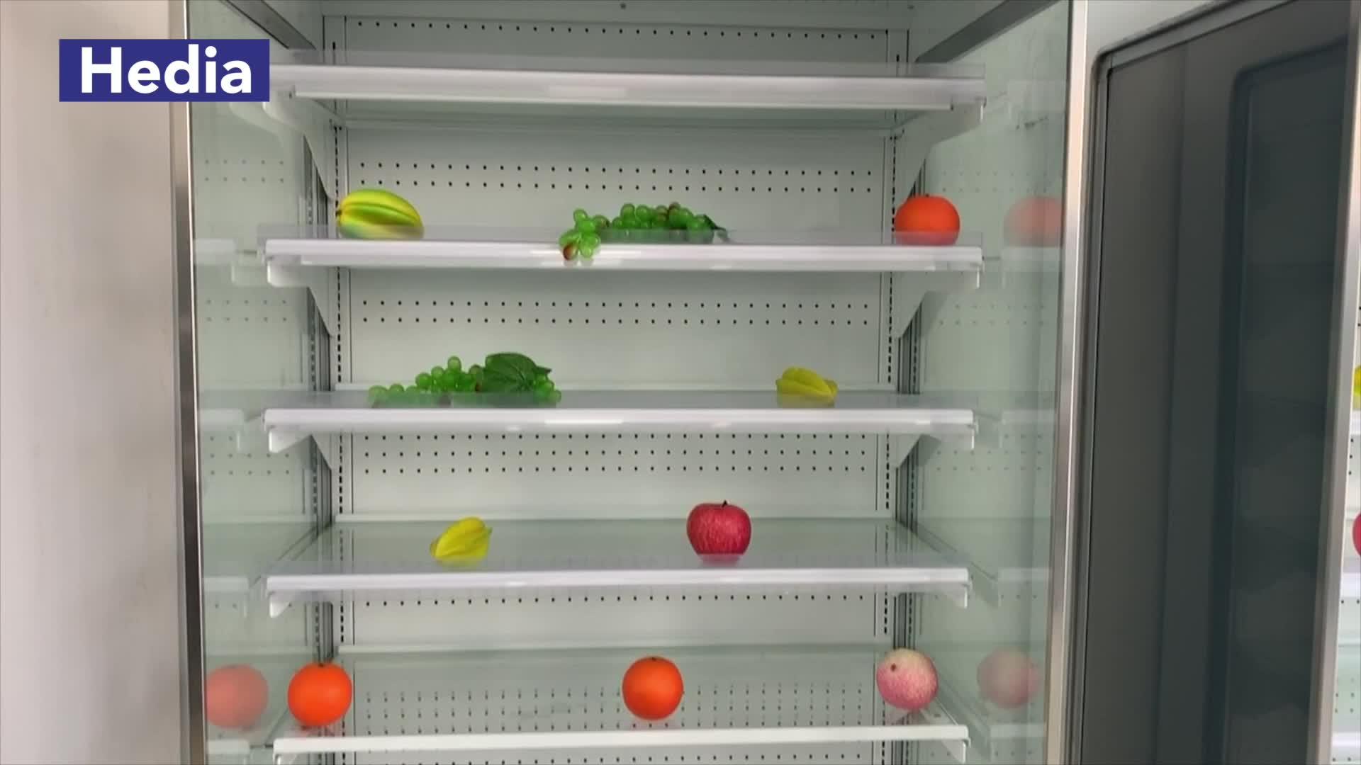 मिनी सुपरमार्केट सामने खुला प्रदर्शन हवा पर्दा प्रदर्शन कूलर