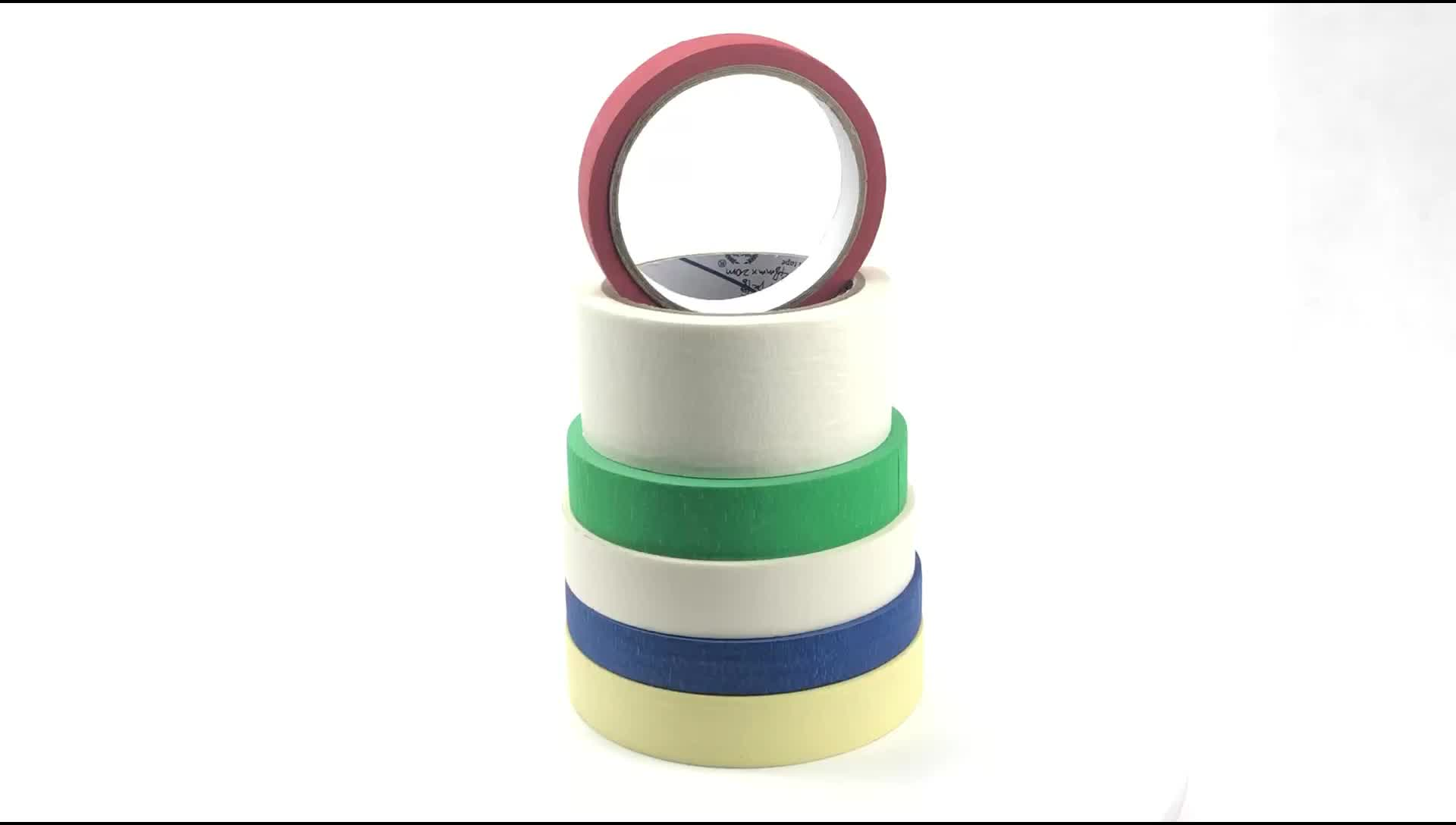 Colorful self adhesive car paper masking tape