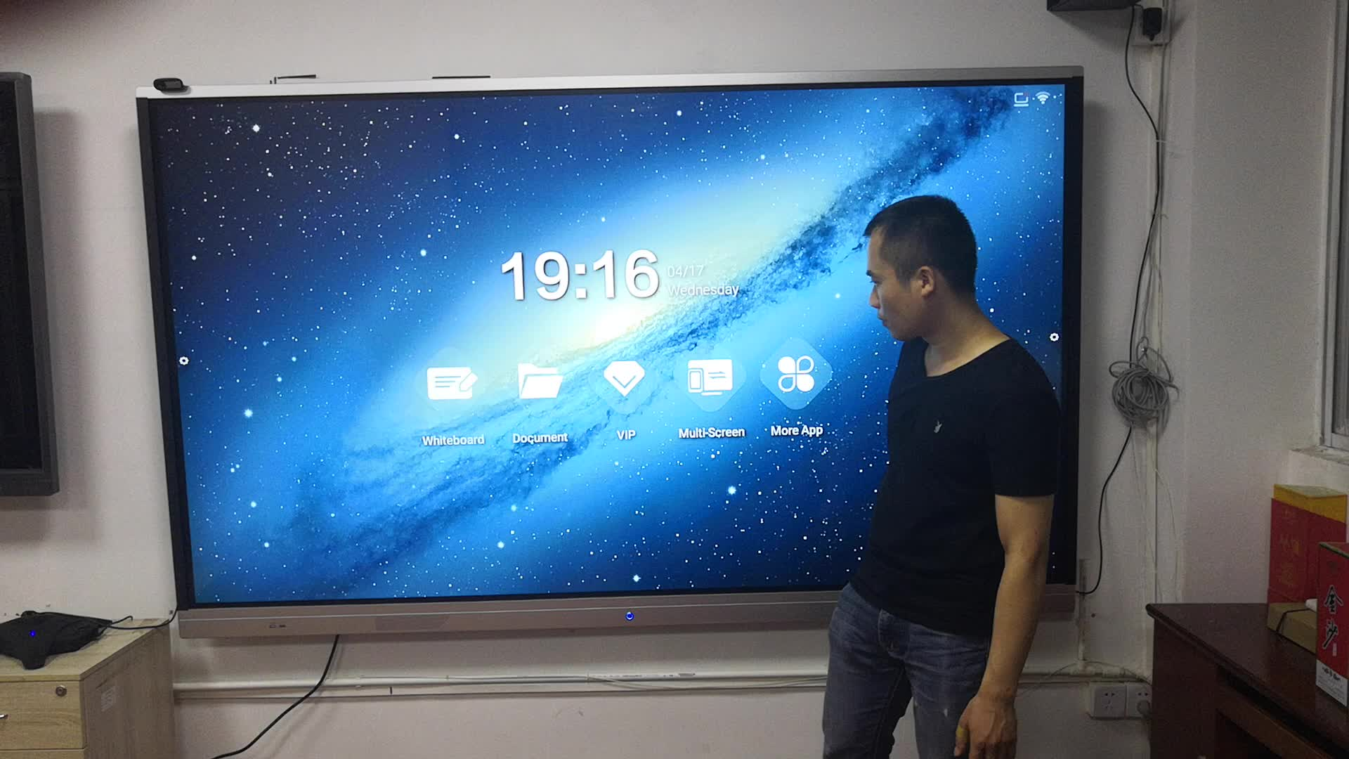 55 65 75 86 100 inch lcd touch screen monitor school smart whiteboard interactive flat panel