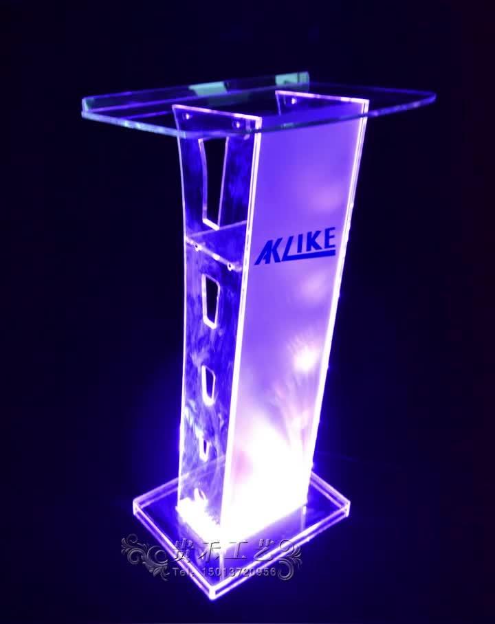 Sıcak Satış Ucuz Akrilik Podyum LED, Moda LED Kürsü