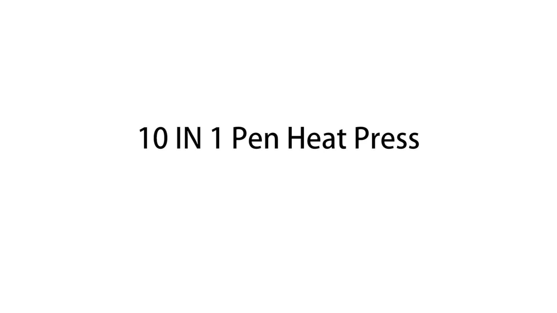 Factory Supply 10 Pen At One Time Heat Press Machine Heat Transfer Printing 10 Piece Pen Heat Press Making Machine