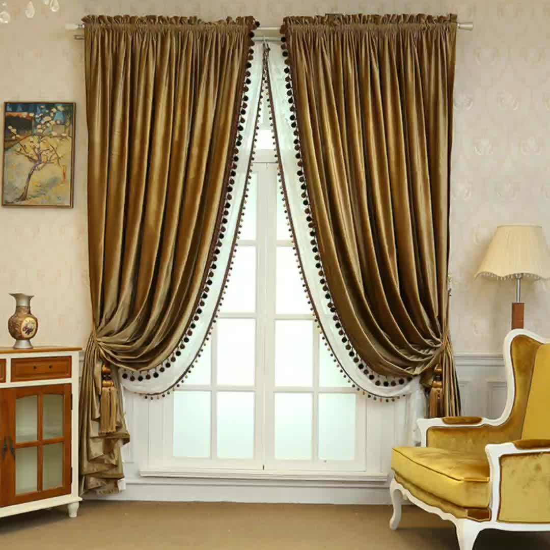 Cheap Wholesale Home Textile Luxury Velvet Curtains For Bedroom Living Room Thermal Insulated Rod Pocket Drapes
