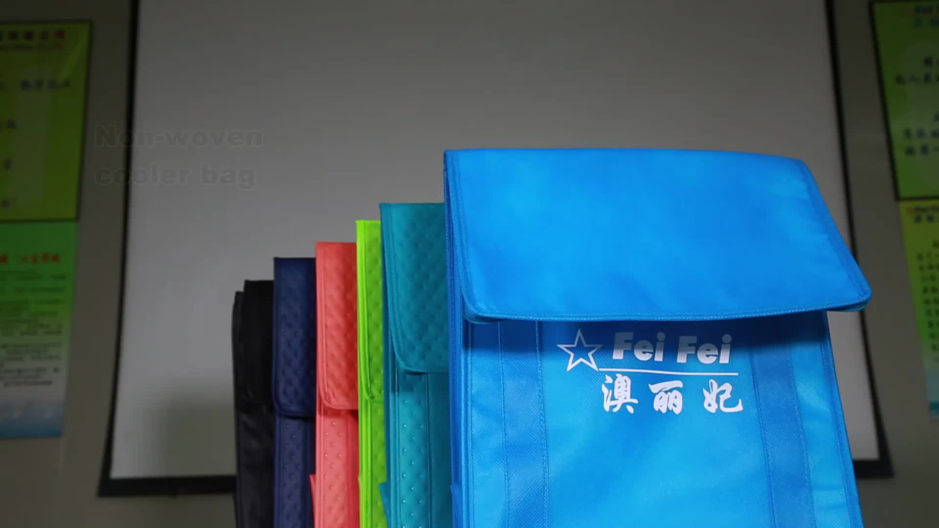 High-quality lunch box design Non-woven insulated foil custom cooler bags