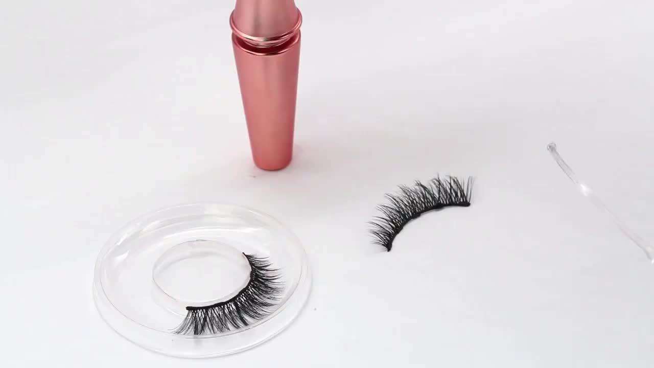 Flüssigkeit Eyeliner Einfach Zu Tragen Starke Saug Magnetische Wimpern Eyeliner Magnetische Eyeliner Wimpern Set