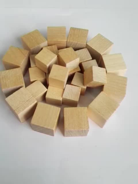 colorful wood cube birch wood cubes