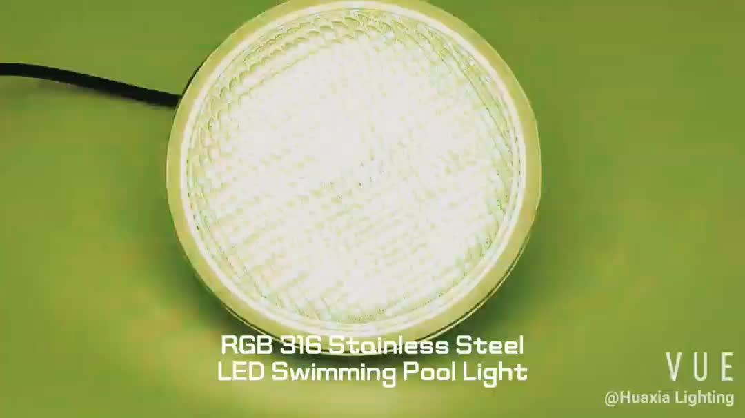 กันน้ำ IP68 12 โวลต์ RGB 18 วัตต์ 24 วัตต์ 35 วัตต์ Par 56 ไฟใต้น้ำโคมไฟ Par56 Led สระว่ายน้ำด้วย remote