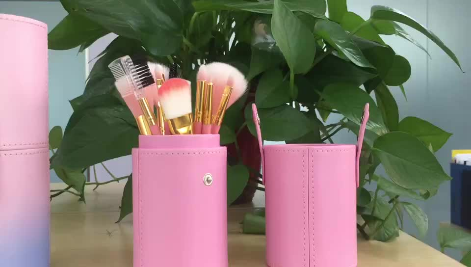 Fashion New Selected 12pcs Private Label Professional Pink Makeup Brush Set