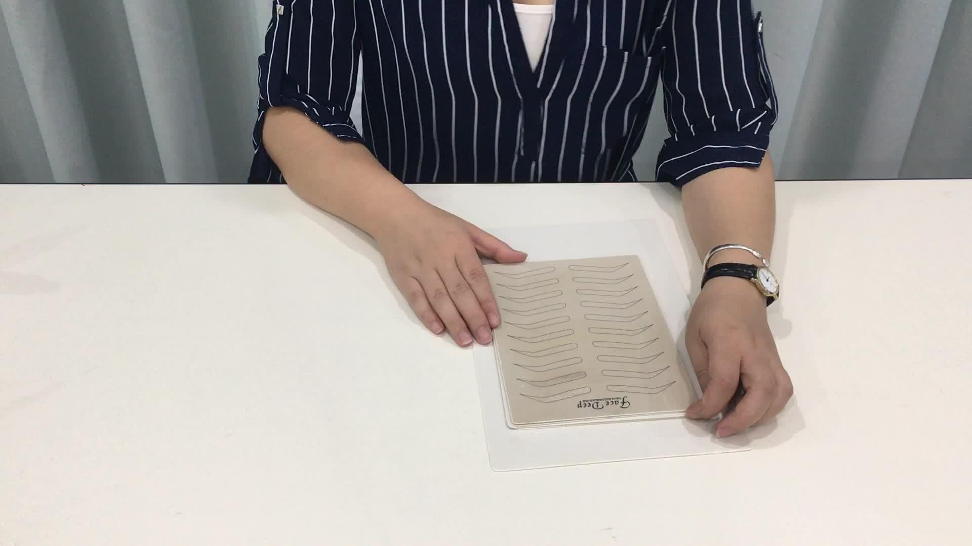 Etiqueta privada pmu microblading látex sobrancelha prática pele sem tinta para treinamento escolar
